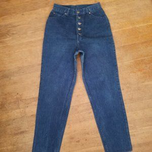 vintage 80s MOM JEANS button fly high waist 13/14